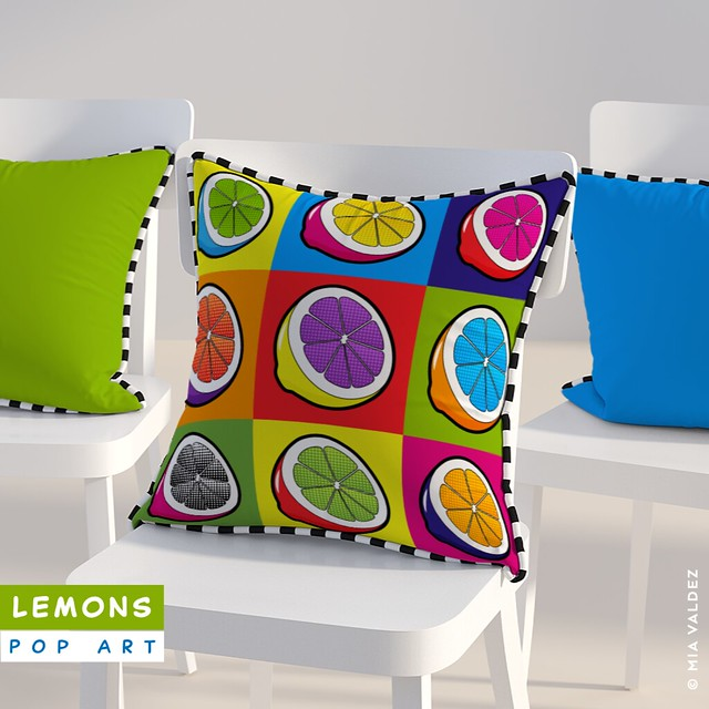 Lemons Pop Art_Pillow