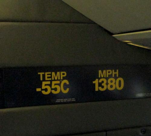 Concorde Temp and mph Indicators