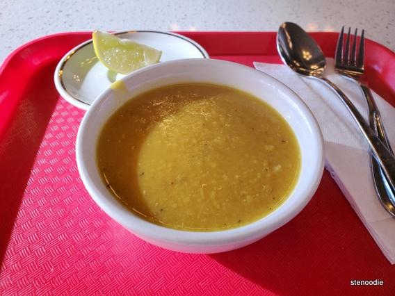 The Little House of Kebobs lentil soup