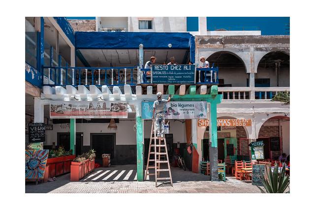 F3406 ~A very busy scene in Essaouira