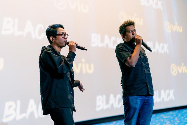 The Directors Of Black, Khairul Azri (Kroll Azry) And Razaisyam Giving A Short Thank You Note After The Screening Of Viu Original _ Black Premier