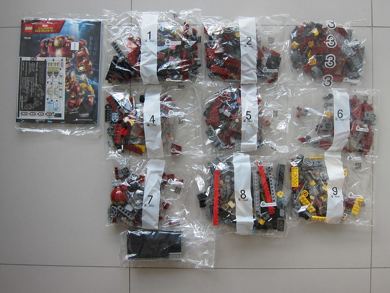 LEGO The Hulkbuster: Ultron Edition 76105 - Box Contents