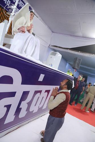 Devotee seeking blessing