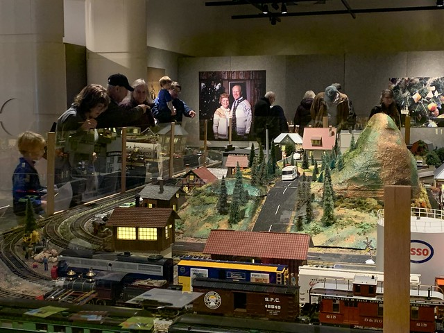 Former Breton Village Holiday Train on Display at Museum
