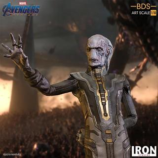 擁有天才級智力的心靈控制大師! Iron Studios Battle Diorama 系列《復仇者聯盟:終局之戰》烏木喉 黑暗教團 Ebony Maw Black Order 1/10 比例決鬥場景雕像