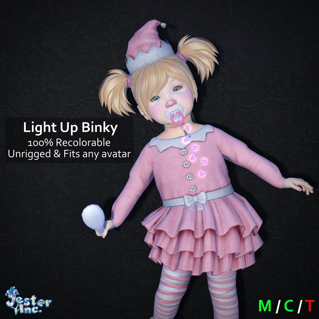Presenting the new Light Up Binky from Jester Inc.