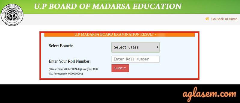 UP Board Madarsa Result 2020