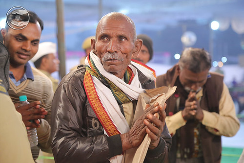 Devotees seeking blessings for the welfare