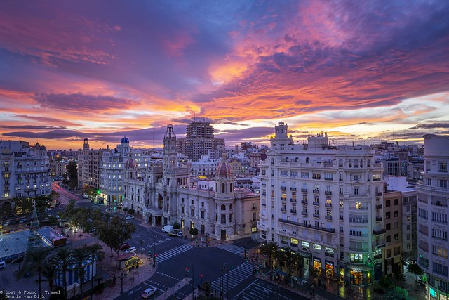 Fire in the sky, Valencia - Spain