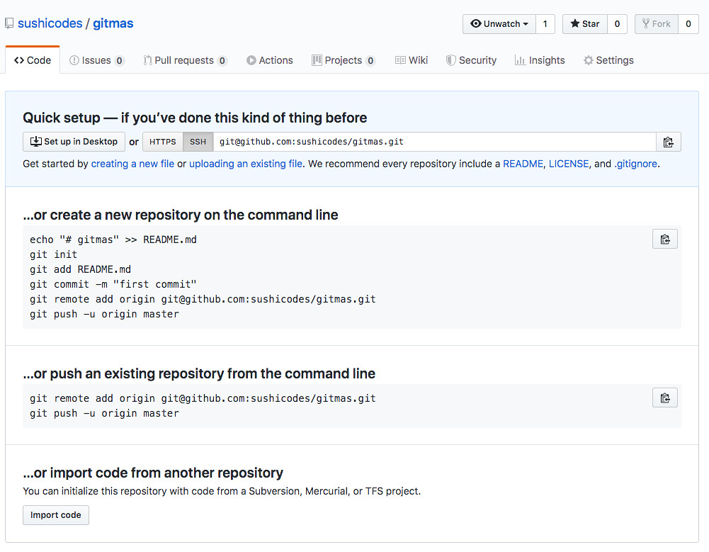 Screenshot of a GitHub repository with no readme