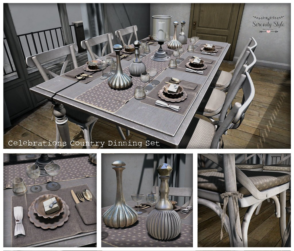 Serenity Style-Celebrations Country Dinning Set