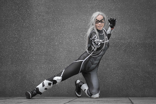 Black Cat cosplayer at MCM Comic Con London, October 2019