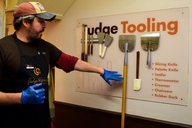 Tools for Fudge Making at The Fudge Kitchen, Canterbury