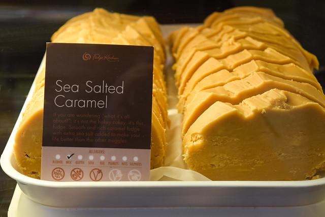 Sea Salted Caramel Fudge at The Fudge Kitchen, Canterbury