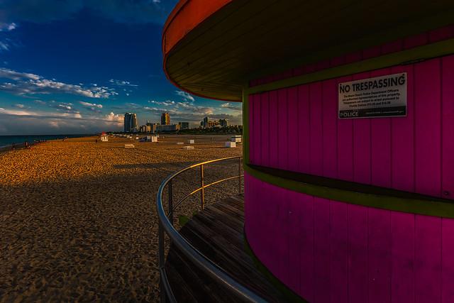 Miami Beach in the evening light