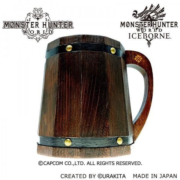 辛苦狩獵之後的酒最好喝!《魔物獵人世界》2.8 公升大容量木製桶形酒杯(モンスターハンター:ワールド 木樽ジョッキ)