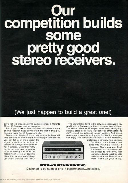 Marantz Model 18 receiver 1968