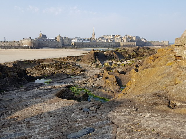 St Malo fort low tide
