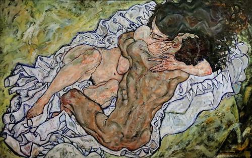 IMG_7022D Egon Schiele  1890-1918 Wien L'étreinte  The embrace 917 Wien Belvedere