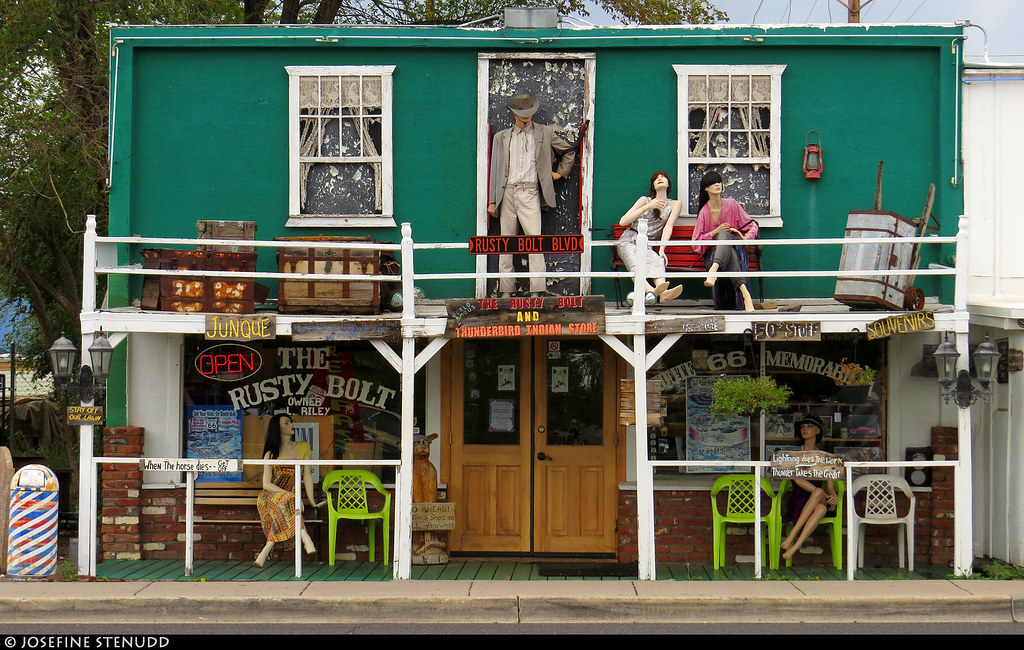 20160827_3 Gift shop in Seligman, Arizona, which was all about Route 66 & Americana :B