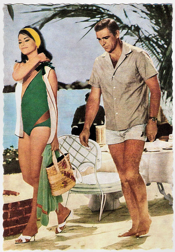 Claudine Auger and Sean Connery in Thunderbolt (1966)