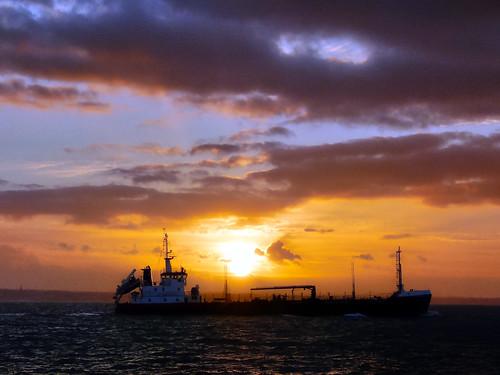 southsea sunset ship