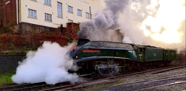 Number '9' fixed! On a test run with an ELR Santa Special.