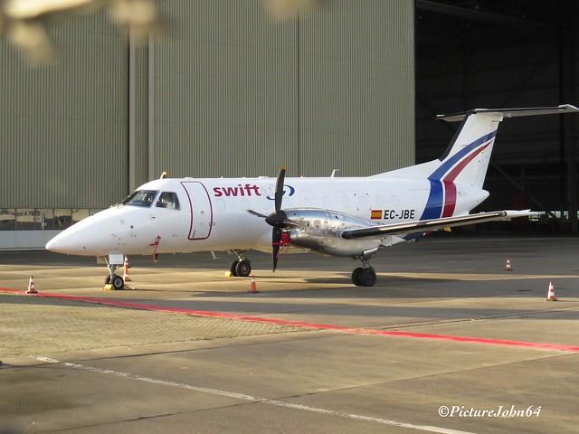 Swiftair Embraer EMB-120FC Brasilia (EC-JBE) at Schiphol East