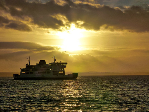 southsea sunset ship ferry