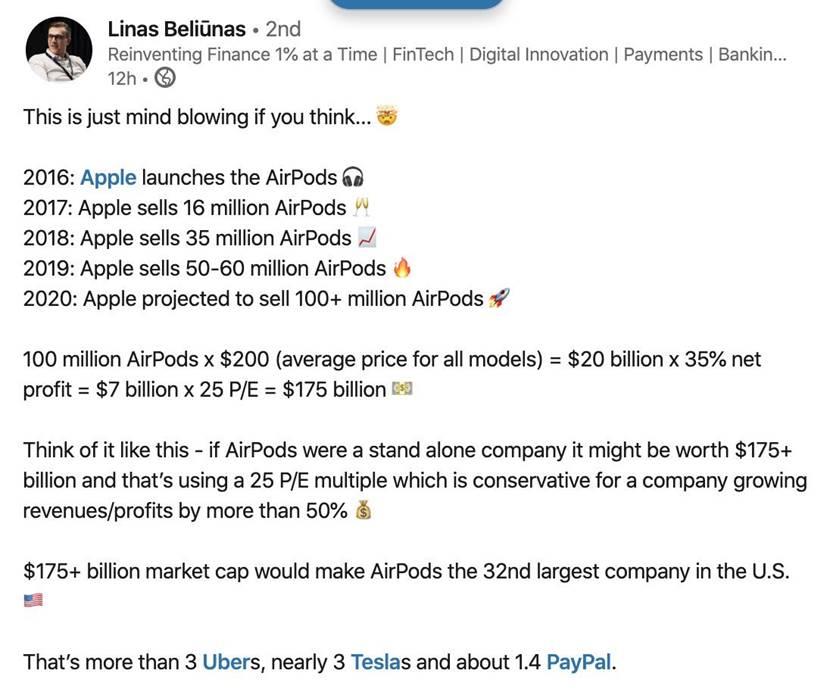 Cómo Apple se ha reinventado con los Airpods