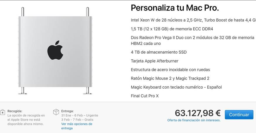 Mac Pro precio
