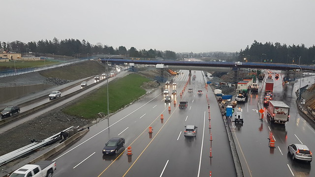 Free-flowing traffic on Highway 1 at McKenzie this week