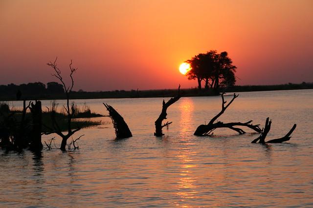 Sunset on the Chobe River, BOTSWANA 20140803