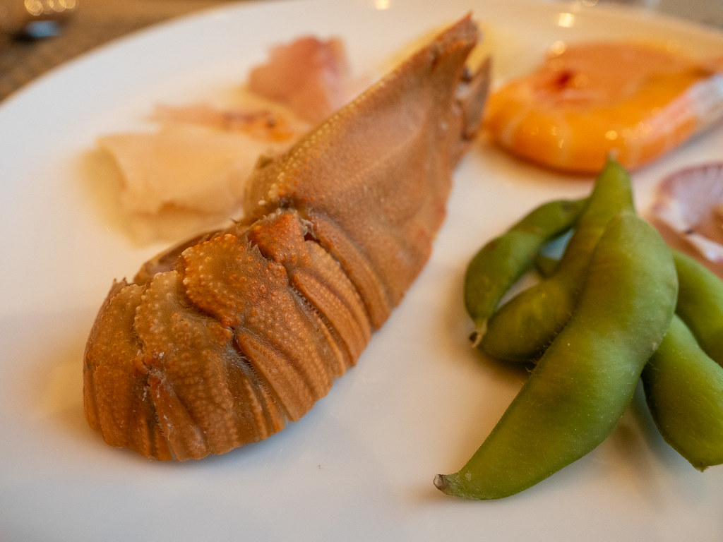 Slipper lobster and edamame at Curate, Four Seasons Hotel Kuala Lumpur Christmas buffet