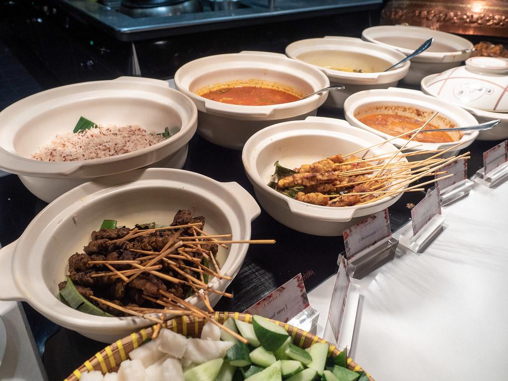 Malay food corner such as satay