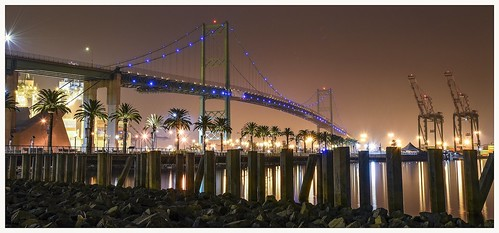 The Vincent Thomas Bridge, San Pedro to Long Beach