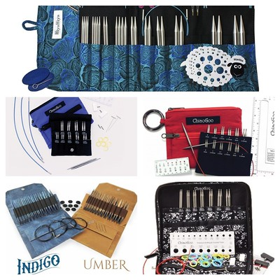 Needle sets from HiyaHiya, ChiaoGoo, Lykke, Addi, Knitter's Pride and Knit Picks. Crochet hooks from Furls, ChiaoGoo, Lykke, Knitter's Pride and Kollage and Clover.