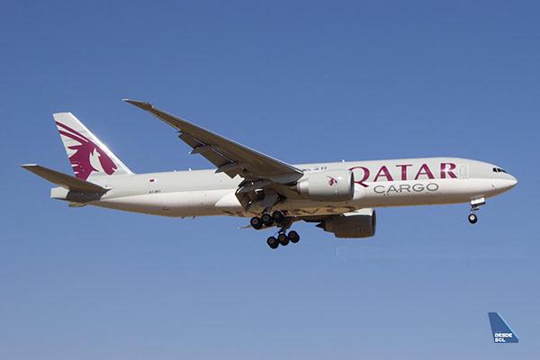 Qatar Airways Cargo B777F (Gustavo Martínez)