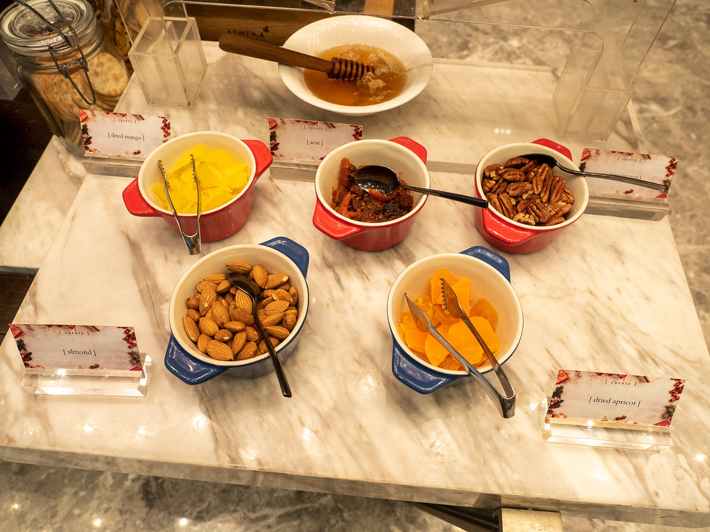 Healthy snacks and nuts at Curate, Four Seasons Hotel Kuala Lumpur Christmas buffet.