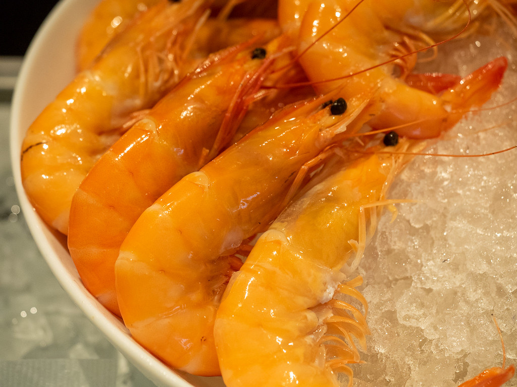 Curate, Four Seasons Hotel Kuala Lumpur fresh prawns.