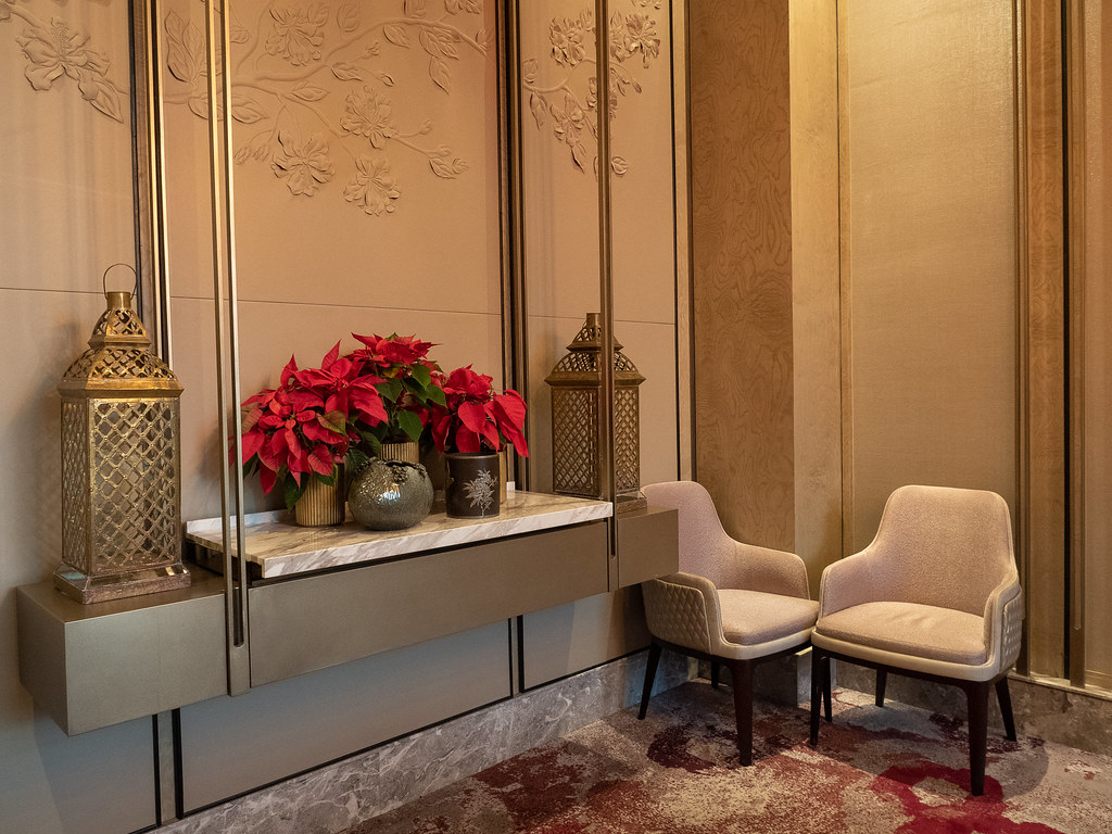 A Christmas corner in the private room