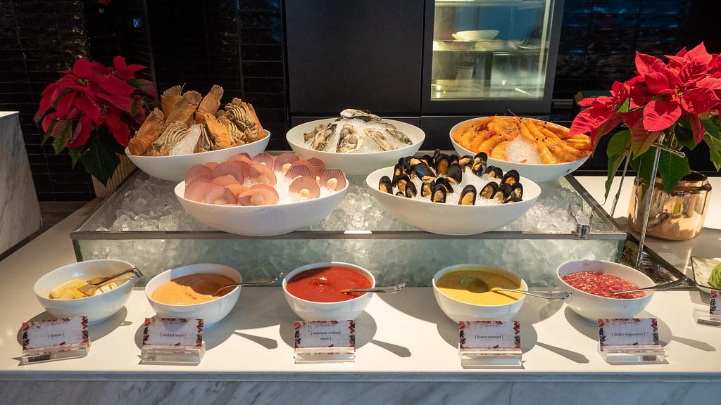 Seafood buffet section at Curate, Four Seasons Hotel Kuala Lumpur