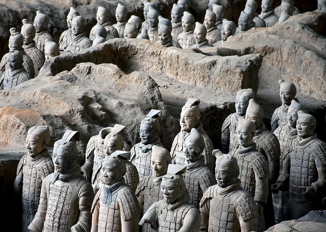 The terracotta warriors of Qin Shi Huang, Xi'an, China
