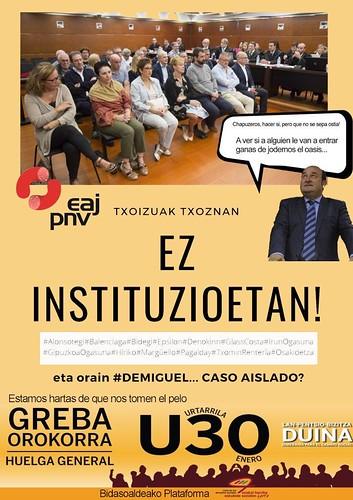 ¡Los chorizos en las Txoznas no en las instituciones!