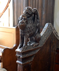 gryphon with the head of St John the Baptist