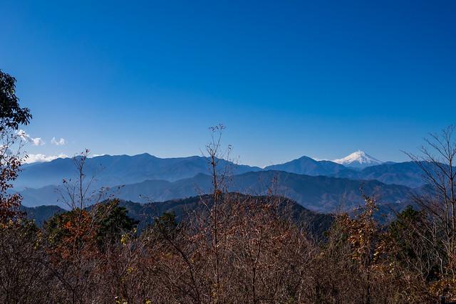 富士山と丹沢の山々@高尾山 山頂展望台