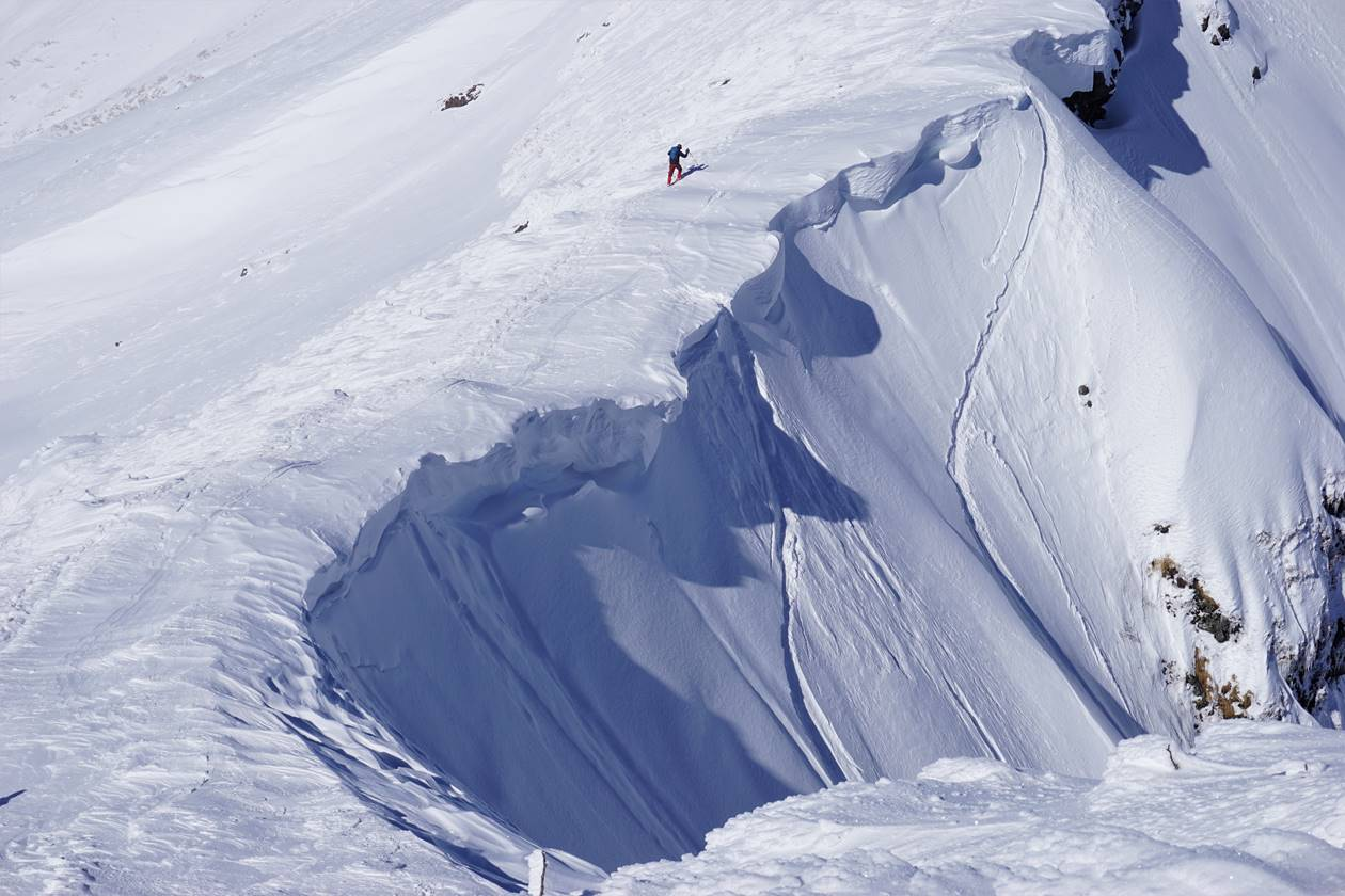 谷川岳の大雪庇 雪山登山