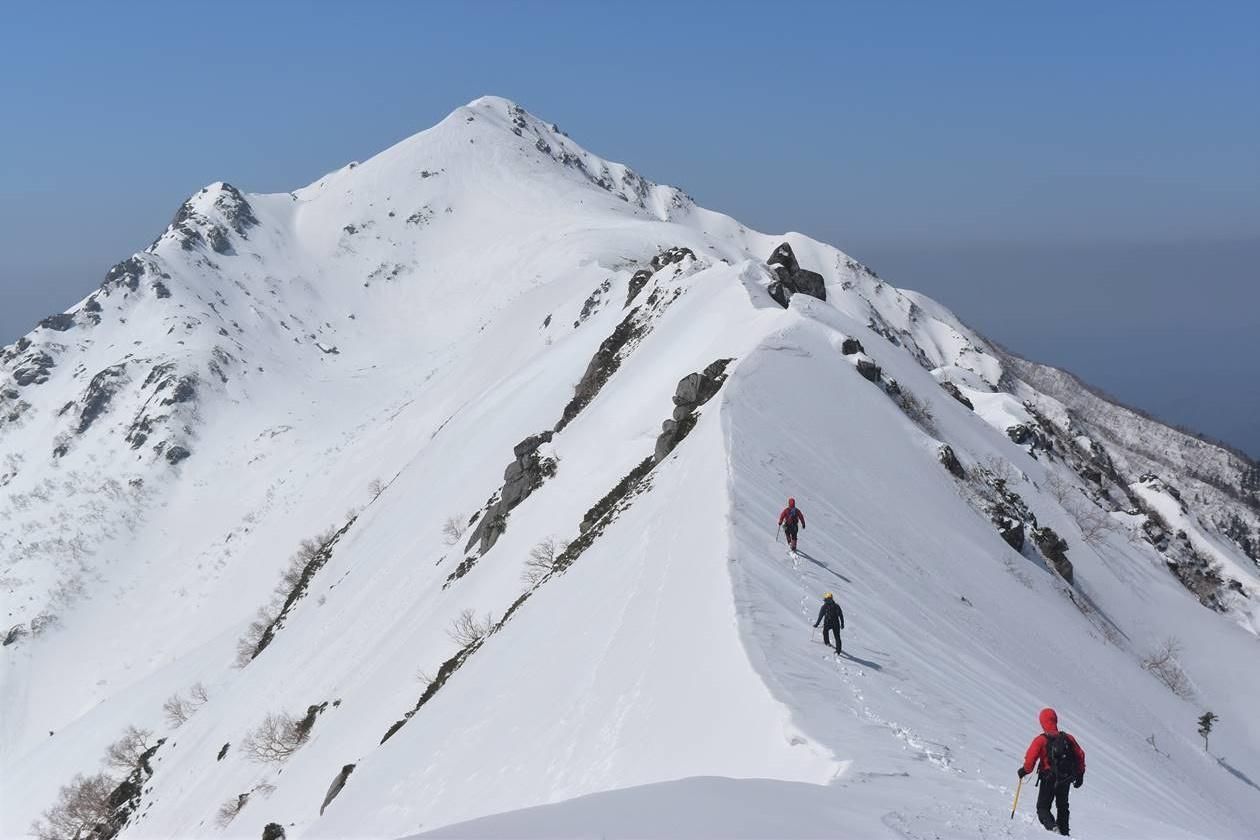 冬の中央アルプス・三ノ沢岳