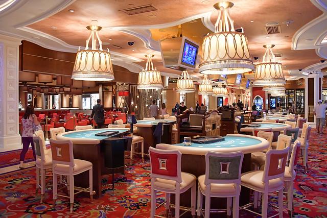 Las Vegas NV, USA 10-02-18 Inside view of one of the luxurious casinos of the Wynn Las Vegas Hotel