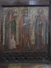 rood screen: St John, St Andrew, St Peter